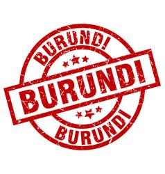 burundi red round grunge stamp vector image