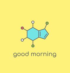 Caffeine molecular structure good morning concept vector