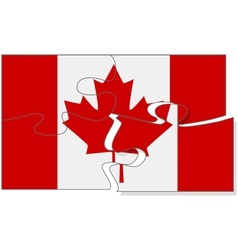 Canadian puzzle vector image