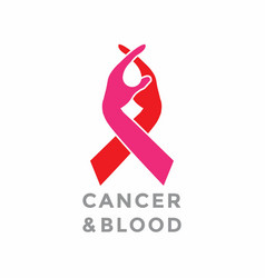 Cancer care logo design vector
