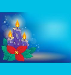 christmas candle theme image 3 vector image