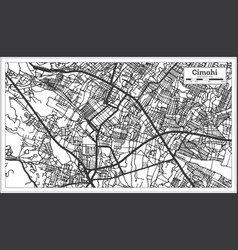 Cimahi indonesia city map in black and white vector