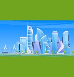 Cityscape landscape set city buildings vector