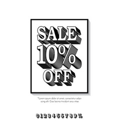 clean classic style sale banner template flat vector image