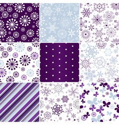 Collection seamless pastel christmas patterns vector image