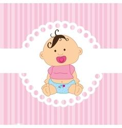 Cute baby toy vector