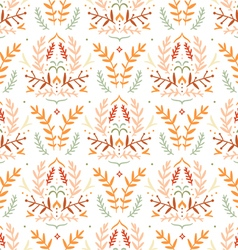 Damask style floral pattern vector image