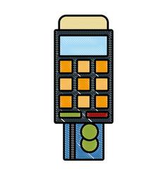 Dataphone eletronic payment vector