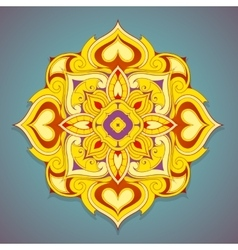 Decorative mandala shape vector image