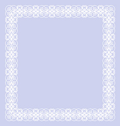 delicate white frame vector image