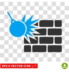 Destruction Eps Icon vector image