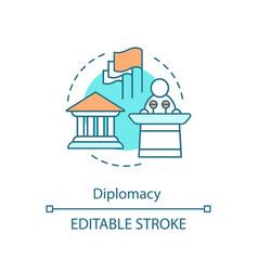 Diplomacy concept icon vector