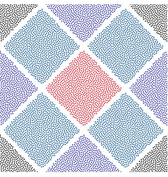 Dotted squares seamless pattern abstract vector
