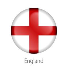 england round button flag vector image