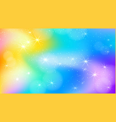 Fairy princess rainbow cute background vector