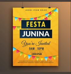 Festa junina invitation poster design with vector