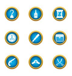 filibuster icons set flat style vector image