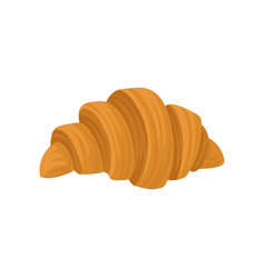 flat icon of fresh french croissant vector image
