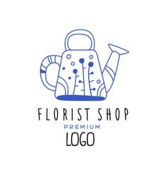 florist shop premium logo design element for vector image
