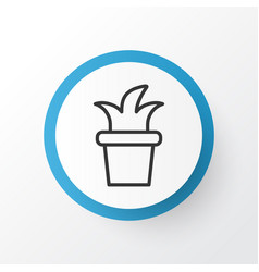 flowerpot icon symbol premium quality isolated vector image