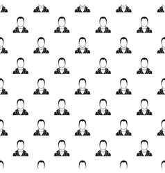 Full male avatar pattern simple style vector image