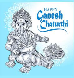 Ganesha detail vector