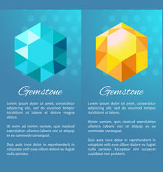 gemstone color diamonds posters precious crystals vector image