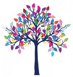 happy tree vector image