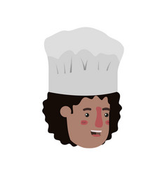 head man cook avatar character vector image