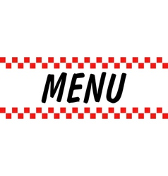 Hotel Diner Menu vector image