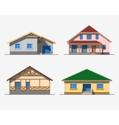 Houses 1 color vector image