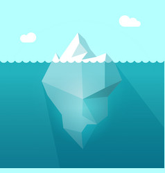 Iceberg in ocean water berg vector