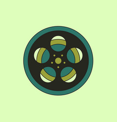 In flat style tape bobbin reel vector