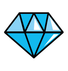 isolated diamond gem icon design vector image