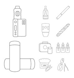 Isolated object nicotine and filter sign vector