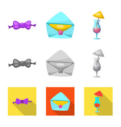 Isolated object of party and birthday logo vector