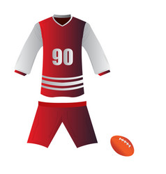 isolated rugby uniform vector image