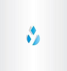 Letter y water drop icon vector