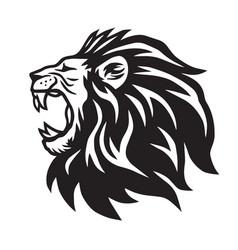 Lion roaring icon logo template vector