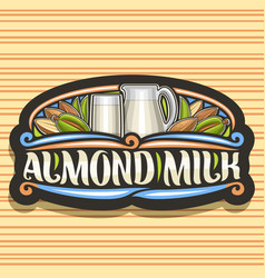 Logo for almond milk vector