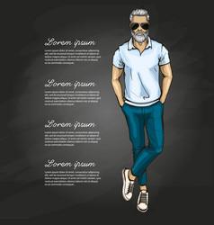 Man model vector
