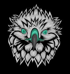 Mascot head hawk vector
