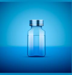 Medical ampoule blue vector