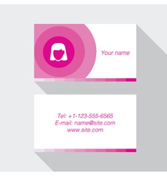 Modern business card template in pink color vector