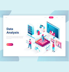 modern flat design isometric big data analysis vector image