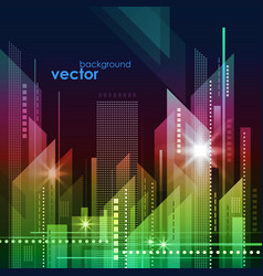night city skyline vector image