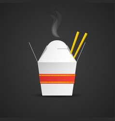 noodle paper box mockup vector image