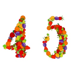 number four and number five vector image