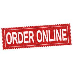 order online grunge rubber stamp vector image