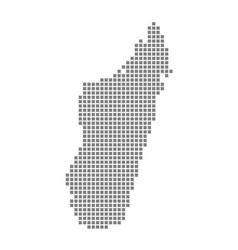 pixel map of madagascar dotted map of madagascar vector image
